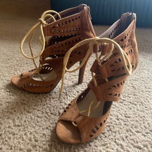 Stiletto lace up heels